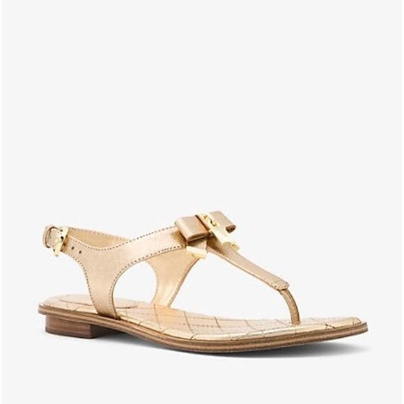Michael Kors Alice Metallic Padlock Bow Sandal 7.5